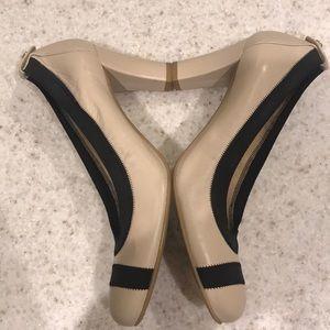 Stuart Weitzman Cream Thick Heels